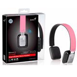 Genius - Audífono C/ Micrófono Hs-920bt Bluetooth Rosa/negro