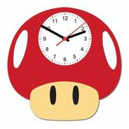 Relógio De Parede Cogumelo Vermelho Beek Geek's Rp-coguvm