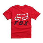 Remera Niño Fox Heritage Forger Roja Motocross Atv Juri Atv