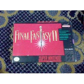 Snes Final Fantasy 2 Caja Instructivo Mapa Super Nintendo