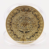 Moneda Calendario Azteca Chapa Oro De Colección Envio Gratis