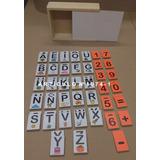 Letras Y Números En Caja Todo Madera 80 Piezas