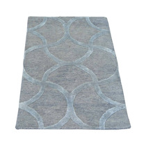 Alfombra / Tapete Silver Wool And Silk Modern Oriental Rug S