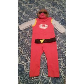Disfraz Power Ranger Rojo Niños 4 Y 5 Años