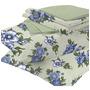 Flores Azul Folhas Verde