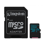Cartão Micro Sd 128gb Kingston Com Adaptador Cl 10 Original