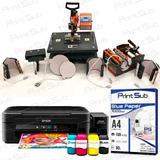Kit Sublimação Prensa Termica 8x1 + Impressora Sublimatica