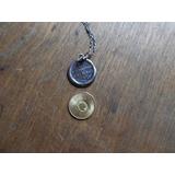 Medalla Recordatoria Primera Comunion 1903 Con Cadena Plata