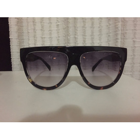 Óculos Céline Máscara Preto E Animal Print
