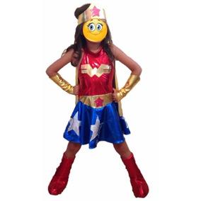 Disfraz Mujer Maravilla O Wonder Woman Niña Envío Gratis