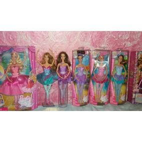 Lote Coleção Barbies Sapatilhas Magicas