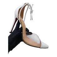Sapato Scarpin Branco Feminino Salto Alto 11 Cm