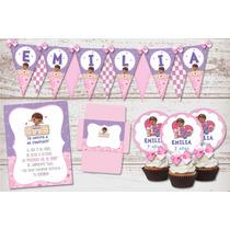Kit Imprimible Cumpleaños Nenas Doctora Juguetes Candy Bar