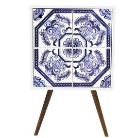 Criado-mudo 1 Porta 0119 Phorman - Branco/azulejo Português
