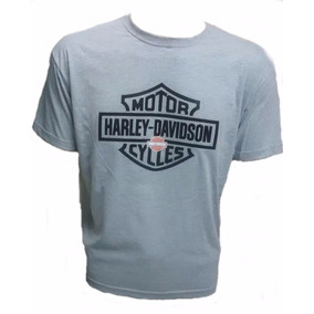 Camiseta Harley Davidson Moto Custom Estampa Emborrachada