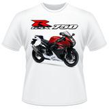 Camiseta Moto Suzuki Gsx R 750 Srad Vermelha Gsxr Camisa