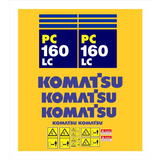 Kit Adesivos Escavadeira Hidráulica Komatsu Pc160 Lc