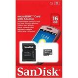 Cartão De Memória Micro Sd 16gb Sandisk Original Lacrado