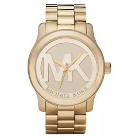 Relógio Slv1039 Michael Kors Mk5473 Logo Mk Dourado Oferta b8b7d365b4