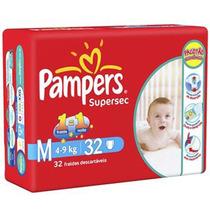 Fraldas Pampers Super Sec M 22 Unid (kit 10 Pacotes)
