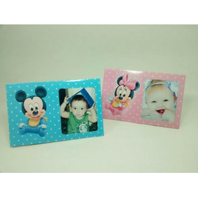 Mickey Y Minnie Bebé X30 Portaretratos Souvenirs