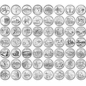 Moedas Quarter Dollar Estados E Parques