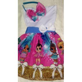 51f89e9aa60 Vestido Temático Infantil Da Bonecquinhas Lol
