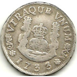Real Columanrio Plata Año 1733 Mx-mx