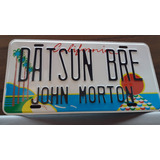 Super Placa Jdm Datsun Bre John Morton California 240z Vlms