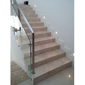 Escada E Prateleira Em Mármore Granito Travertino Crema