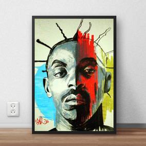 Quadro Arte Rap Sabotage Decorativo 42x29 Cm Hip Hop Brasil