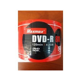 Cd Virgen Dvd Maxmax Pasta Morada 120min 4.7gb Torre 50 Uni