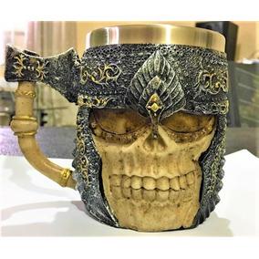 Caneca Cranio Caveira Viking Para Chopp