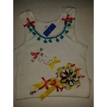 Camisetas Franelas Niñas Decoradas Con Lazos