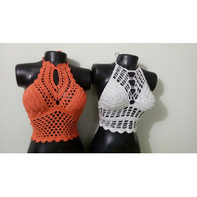 Lindos Crop Tops En Crochet 3183531504