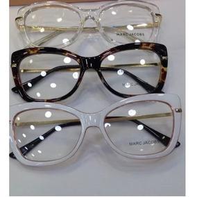 Oculos De Grau Feminino Gatinho Verde Armacoes Marc Jacobs - Óculos ... ad81290978
