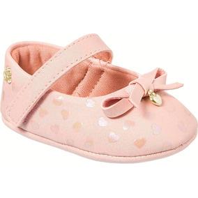 Pampili Sapatilha Bebê Nina Recém Nascido Rosa Nº 13