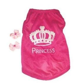 Roupinha Camiseta Rosa Princess Para Pet Femeas Tam.: Xp