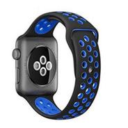 Pulseira Estilo Nike Para Apple Watch 42/44mm - Preto Com Azul