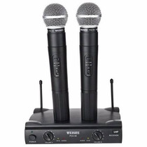 Microfone Sem Fio Duplo Weisre Pgx-51 Profissional Uhf