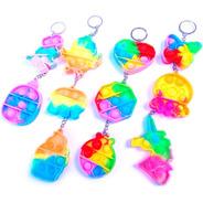 Llaveros Pop It Multicolor Varios Modelos Antiestres Rainbow