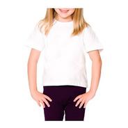 10 Camisetas Infantis Brancas 100% Algodão 2/4/6/8 Anos
