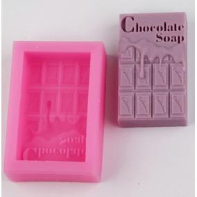 Molde De Silicon De Jabon Diseño De Barra Chocolate