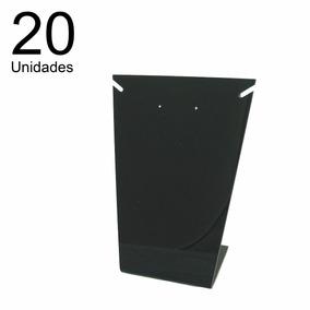20 Expositores Acrílico Placa L 1 Colar (médio) Preto