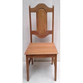 Cadeira Em Madeira Angelim Com Fundo P.u.acetinado A Encerar