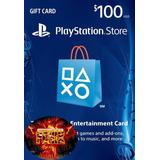 Tarjeta Playstation Card 100 Usd Psn Ps4, Psvita, Ps3