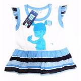 Vestido Racing Club Oficial Body Bebe Camiseta Boca River