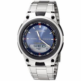 Relógio Masculino Analógico Digital Aço Casio Com 3 Alarmes