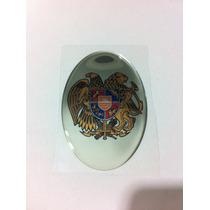 Adesivo Resinado Do Brasão De Armas Da Armênia 9x6 Cm