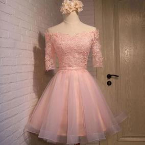 Vestidos para graduacion de primaria color rosa pastel